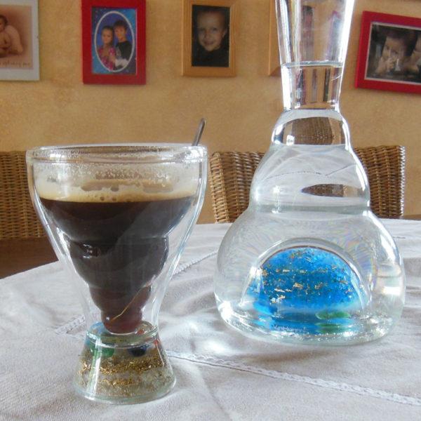 Set čirý pohár a karafa blue